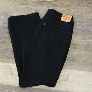 LEVI'S Women's BOOT CUT BLACK JEANS 12M